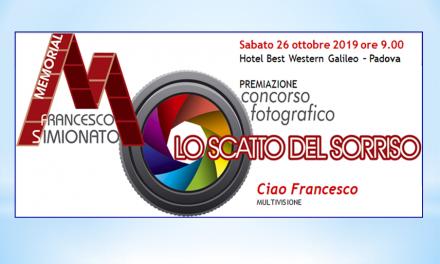 Memorial Francesco Simionato – Evento il 26 ottobre 2019 a Padova