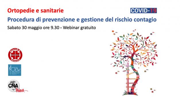 Ortopedie e sanitarie: procedura di prevenzione e gestione rischio contagio Covid19 – Webinar 30 maggio ore 9.30