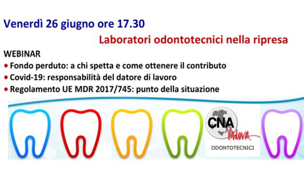 Webinar Laboratori Odontotecnici – 26 giugno ore 17.30