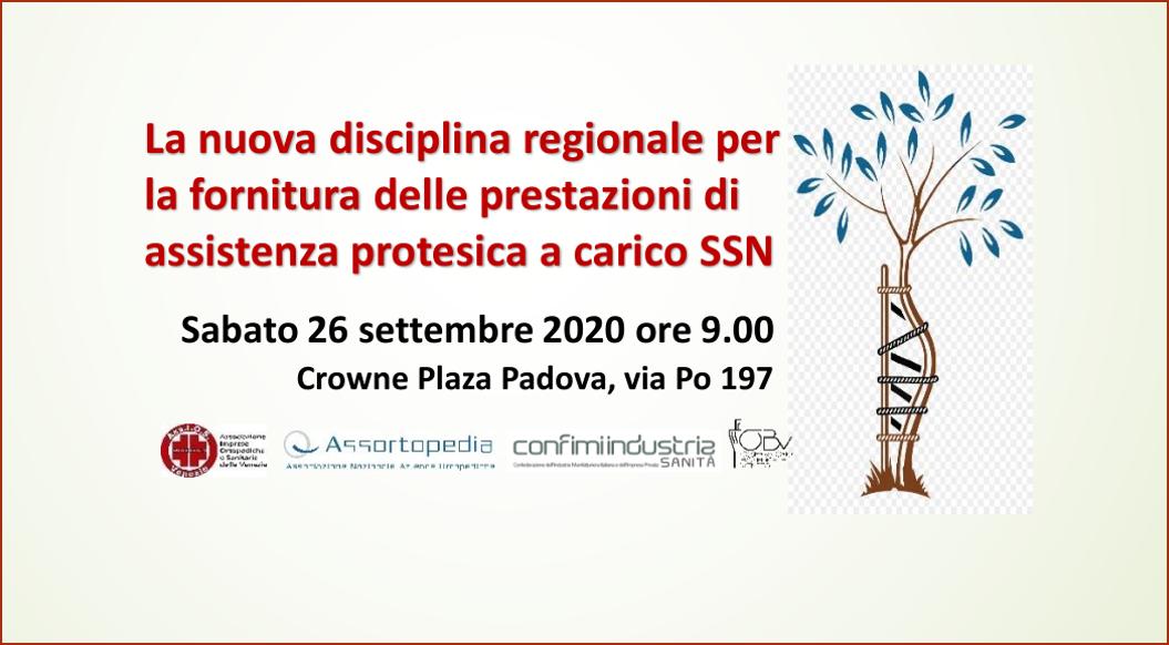Nuova disciplina fornitura prestazioni assistenza protesica – 26 settembre a Padova