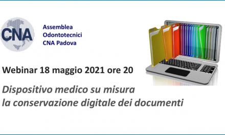 La conservazione documentale digitale – Webinar 18.05.2018