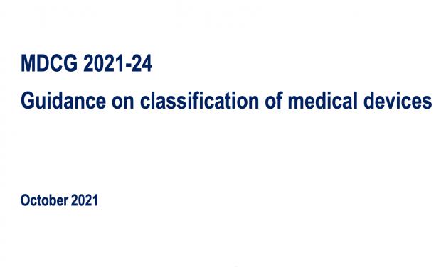 MDCG: Guida alla classificazione dei dispositivi medici
